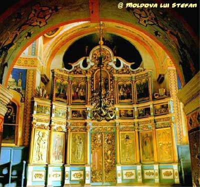 Mănăstirea Căpriana - catapeteasma bisericii de vară