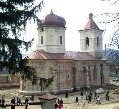 Manastirea Capriana - Biserica Adormirea Maicii Domnului, restaurare 2007